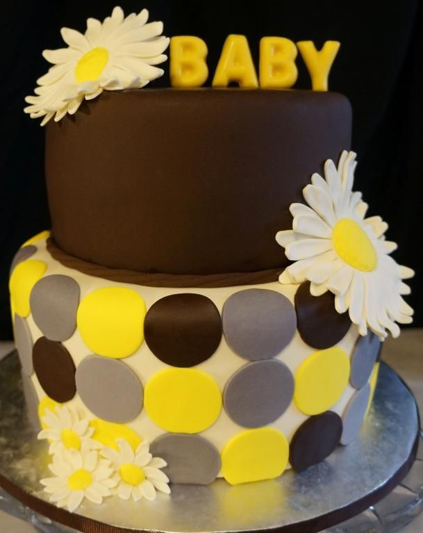 - Daisy baby shower cake