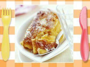 Recetas para niños. Tortilla dulce de Carnaval