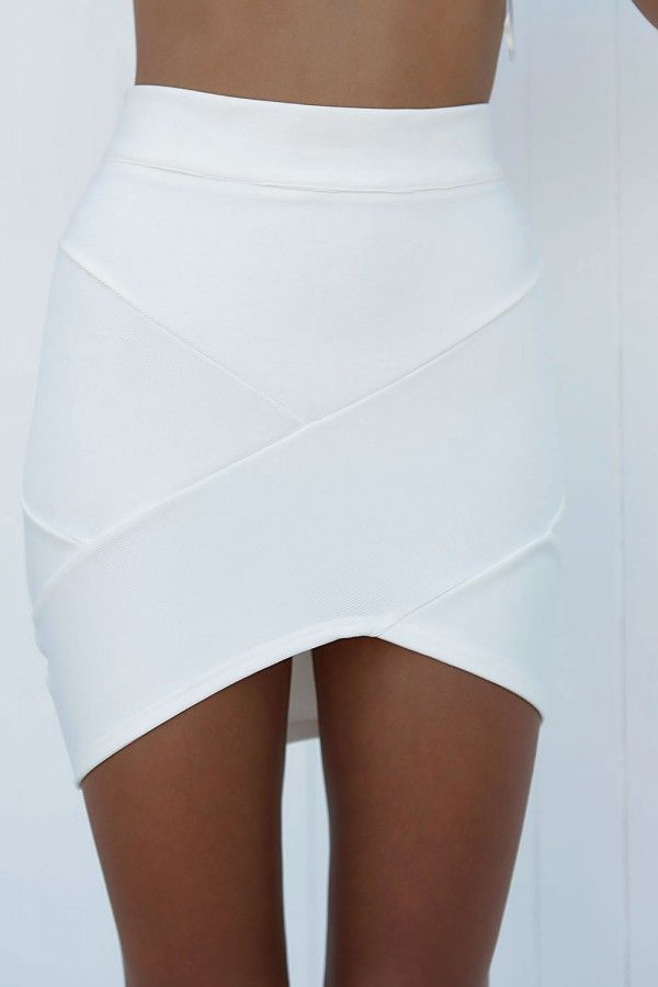 Wrapped in perfection bandage skirt