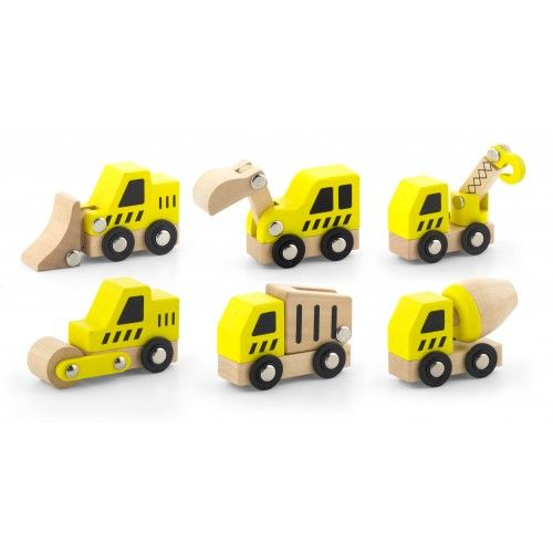 Viga Toys - Construction Vehicles 6pcs set