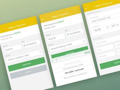 Make Payment mobile app ui