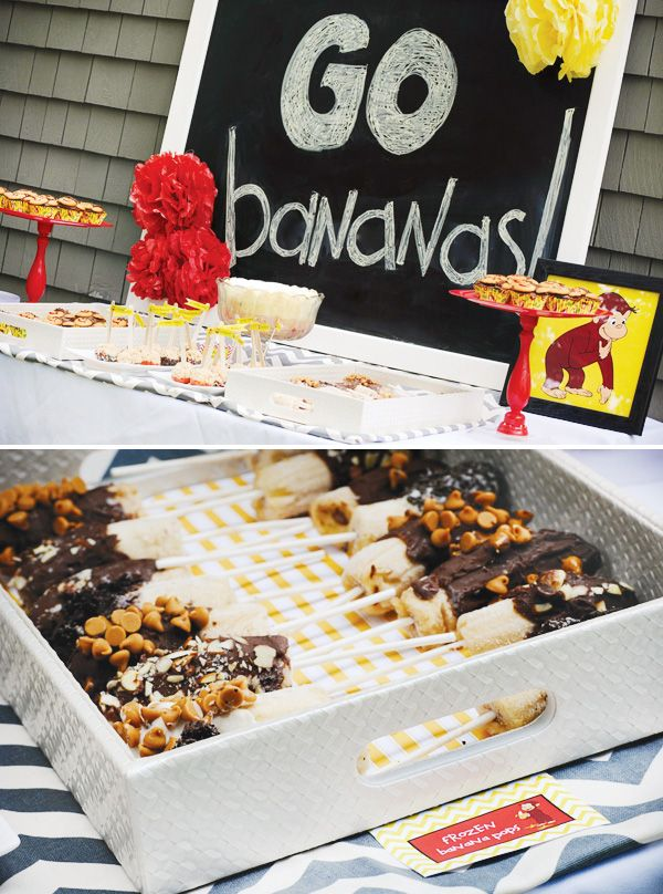 go bananas, chocolate-covered-banana-sticks for curious george theme ...
