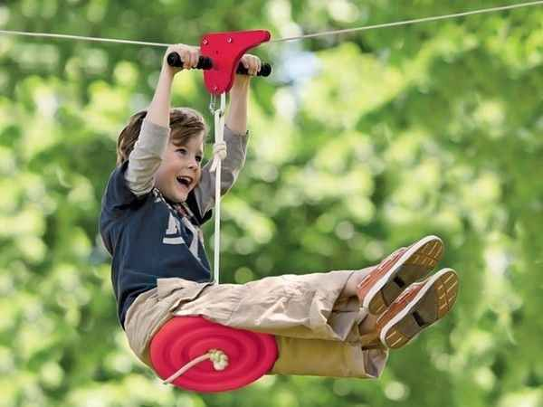 A Zipline | 32 Outrageously Fun Things You'll Want In Your Backyard This Summer