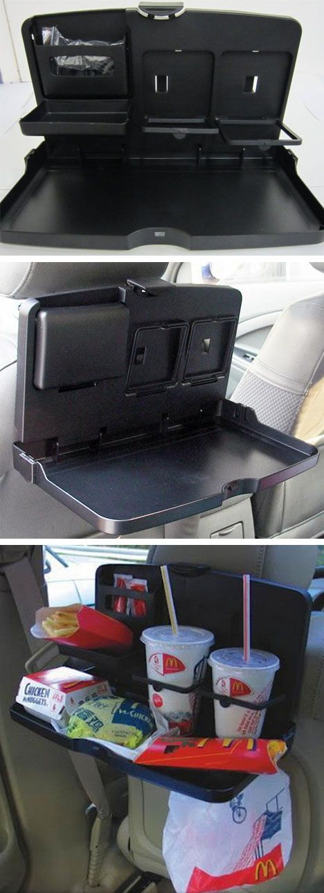 Avoid a messy car filled with roaches and prevent food from spilling with today's DEAL, a Portable Car Travel Dining Tray.