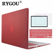 the best Matte Case For Apple macbook Air Pro Retina 11 12 13 15 laptop bag For Mac book 11.6 13.3 15.4 inch macbook laptop case cover