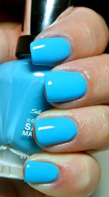 "Sally Hansen ""Sky's The Limit"" blue nail polish"
