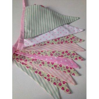Handmade Bunting - Pink and Green
