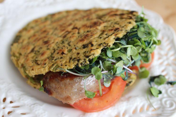 Arepa Fit de brocoli, cebollín y cilantro | Mamá Contemporánea