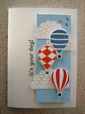 воздушный шар открытка