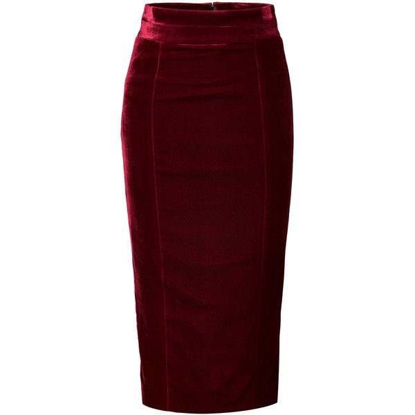 L'WREN SCOTT Velvet Pencil Skirt ~ I just need to find the poor girls version of this little Miss Darling.