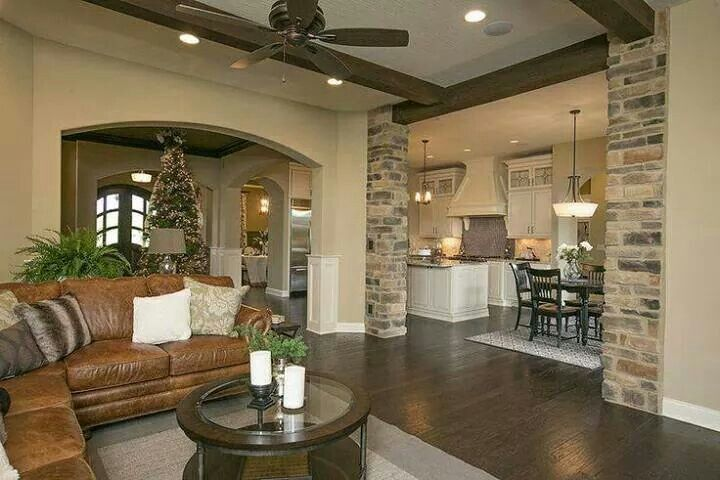 Living room, kitchen design