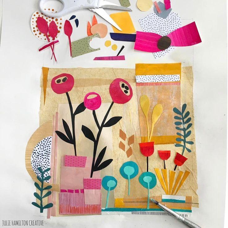 Julie Hamilton collage sketchbook