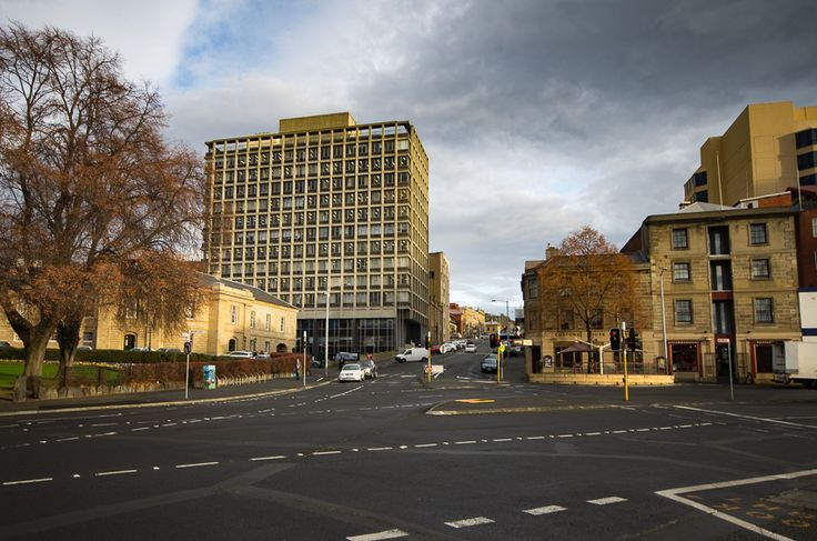 Brutalist architecture example in Hobart