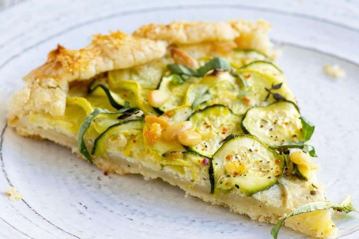 Gluten-Free Summer Squash Ricotta Galette by Beard and Bonnet | This gluten-free galette tastes great hot, warm or at room temperature, for breakfast, lunch, or dinner (or all three!)