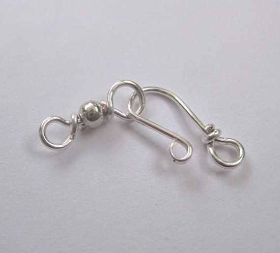 Silver jewelry clasps handmade findings set by SunshineDayCrafts