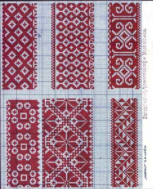 Folk cross stitch patterns - Lviv region of Ukraine