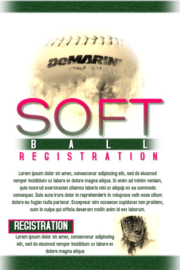 softball tournament poster template