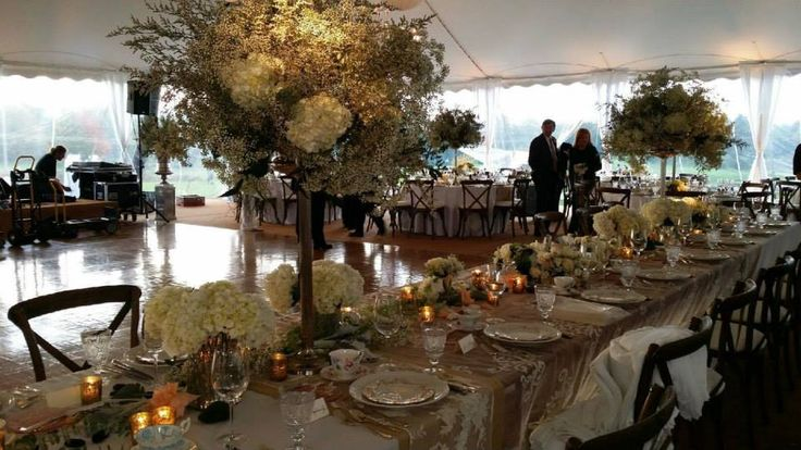 Artquest, Ltd floral head table design at Edgewood Valley Country Club in La Grange.   Check us out on Facebook and Instagram at artquestltd for more!