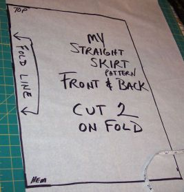 Making a straight skirt pattern to fit your body