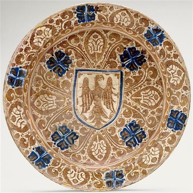 Bassin décoré d'un aigle sur la face et au revers Paris, musée de Cluny - musée national du Moyen Âge