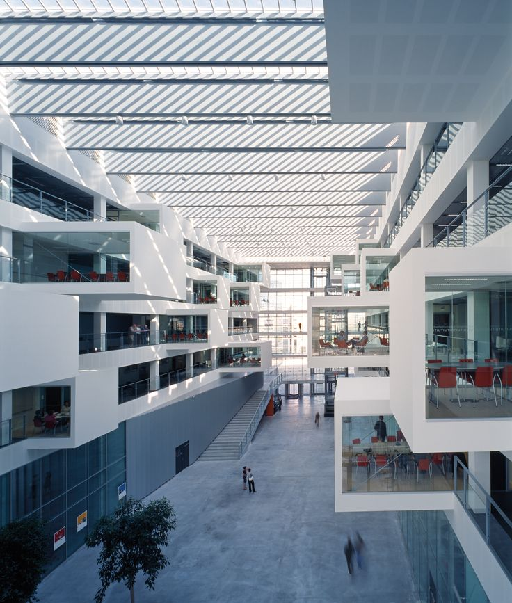 Interior of the IT University of Copenhagen. Henning Larsen Architects. #ITU #Copenhagen