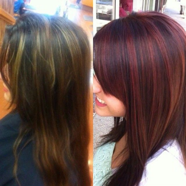 1000 Ideas About Red Highlights On Pinterest Highlights Hair And Brown Hair