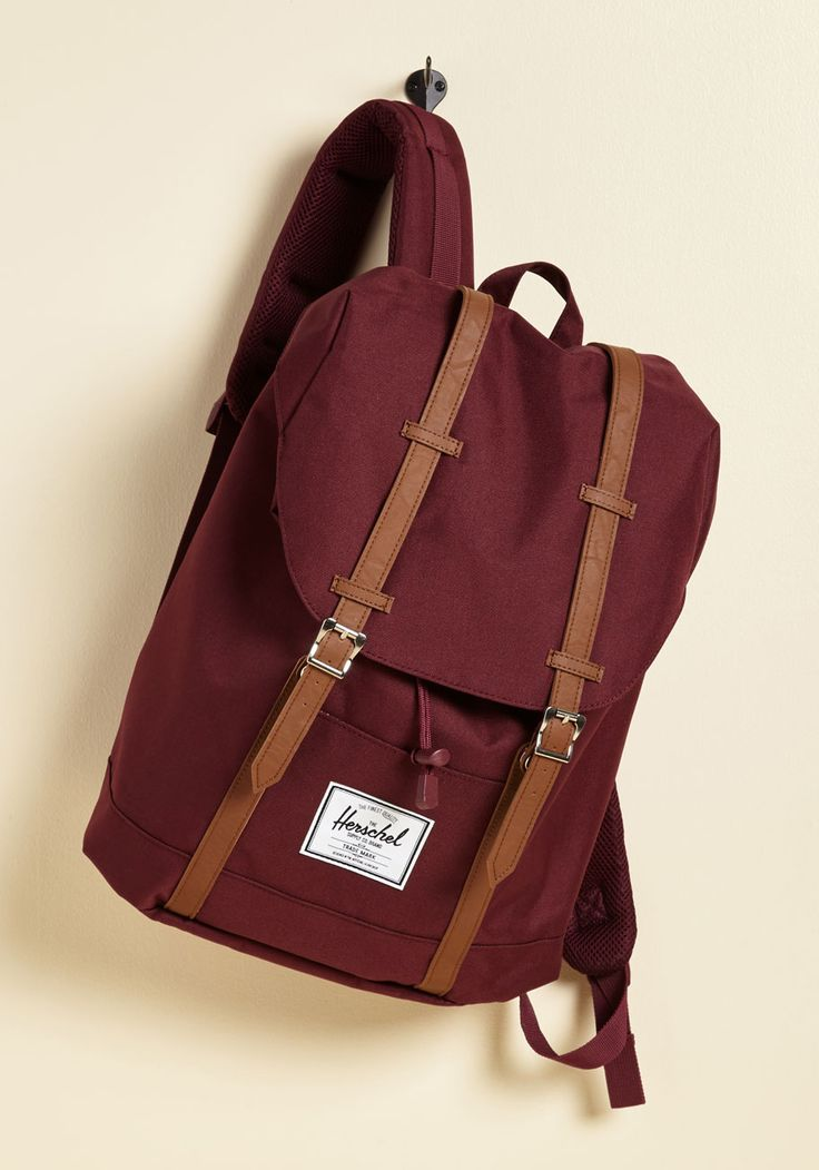 Intrepid Trek Backpack in Burgundy. Before your next adventure, stylishly stash away the essentials inside this maroon backpack from Herschel Supply Co! #red #modcloth