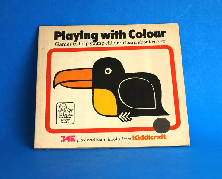 Playing with Colour Book Kiddicraft By Iris Grender - Games to Help Young Children Learn About Colours - Made in Great Britain by FunkyKoala on Etsy
