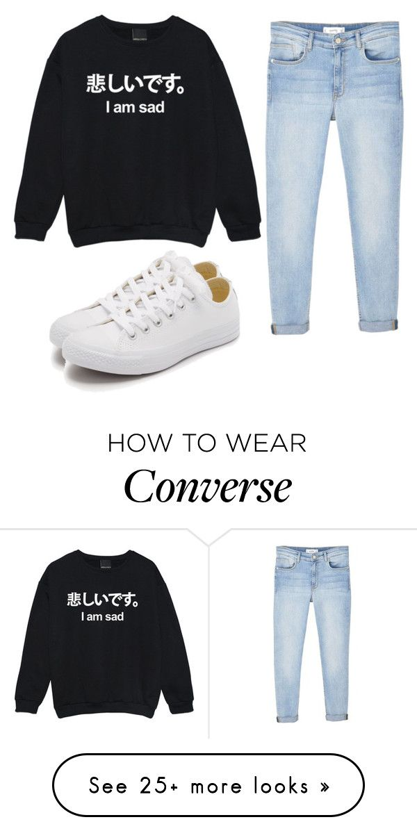"""Untitled #369"" by emily147147 on Polyvore featuring MANGO and Converse"