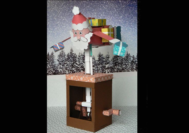 ... santa The gift packages from the model reindeer sleigh on: Brother