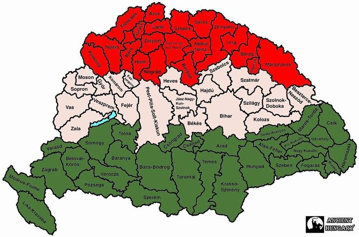 Magyarország vármegyéi. Hungary - Trianin elott - 1920- before was the Hungarian land with many State today only 19 State left just tragedy for Hungarians