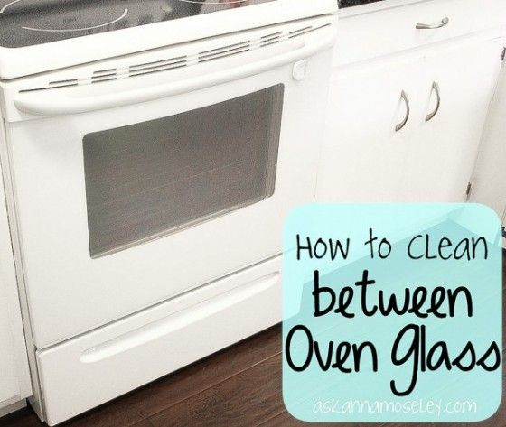 How to clean between oven glass.