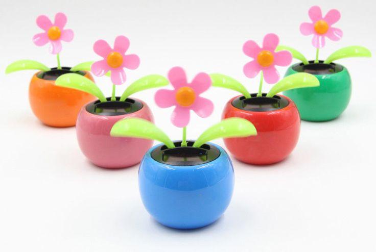 HOT Solar Power Flip Flap Flower FOR CAR Swing Dancing Flower TOY Gift Colorful…