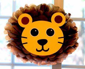 pompones para decoracion de baby shower de la selva bodegas ilusion