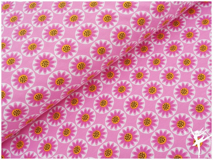 Stoffe gemustert - NEU! STENZO Sommer-Blumen Pink  - ein Designerstück von Zuckermandelfee_de bei DaWanda