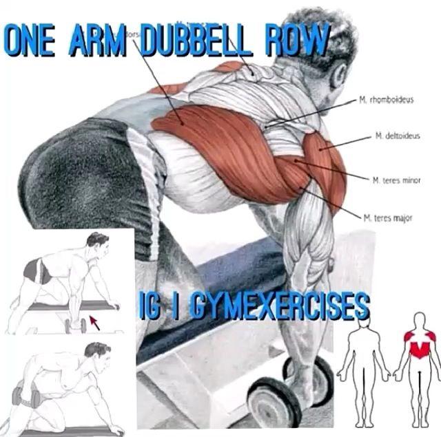 One arm dumbbell row