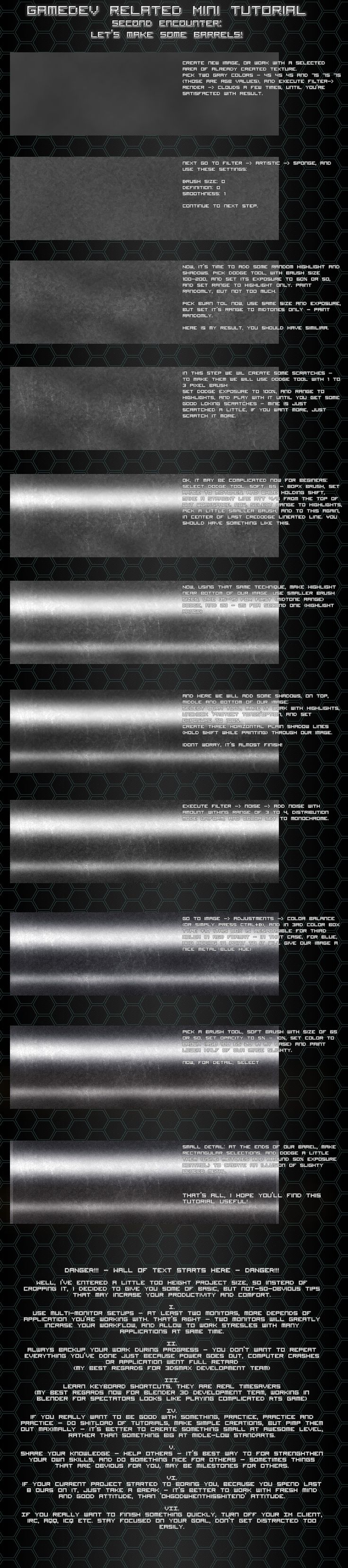 Metal barrel texture tutorial by Pirosan.deviantart.com on @deviantART