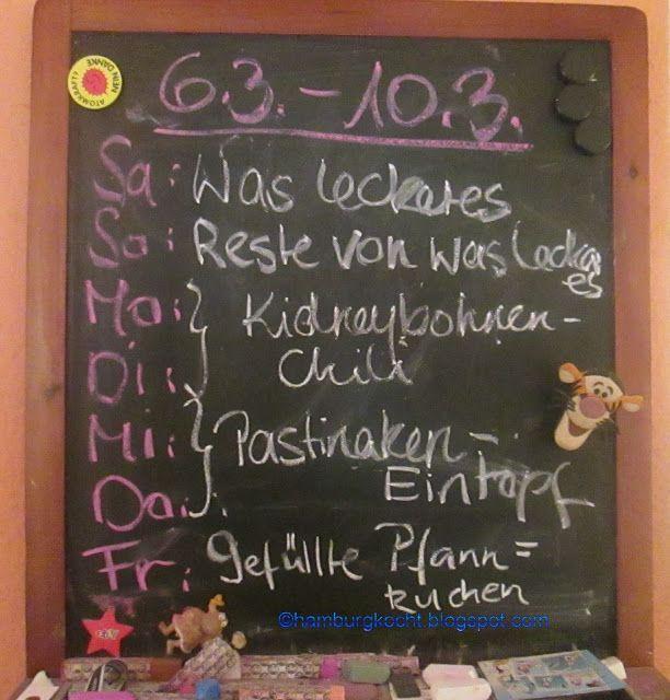 Hamburg kocht!: Rückblick: Wochenplan KW 10/17 - wieder keine Pfan...