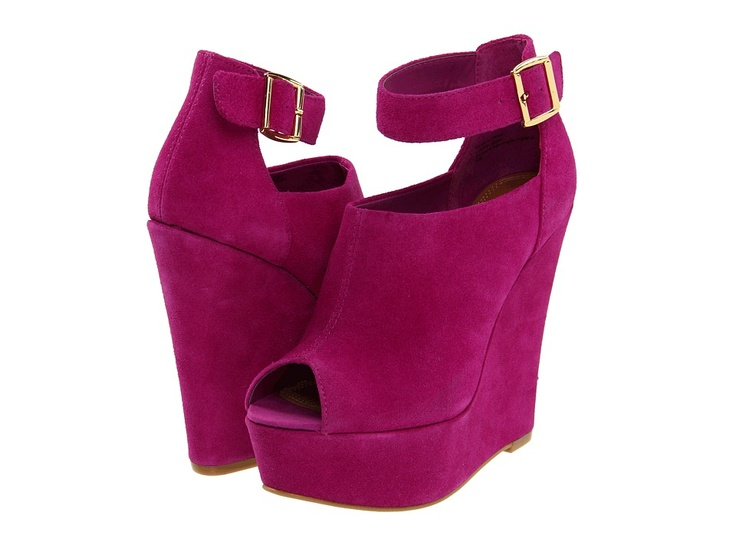 love that color: Madden Kalypsso, Sandals Wedges, Wedding Shoes, Pink Wedges, Colors, Purple Passion, Steve Madden, Shoes Addiction, Shoes Style