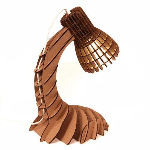 Simply awesome cardboard lamp.