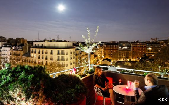 Le 114 up on the roof sur le toit du Courtyard by Marriott Paris Boulogne