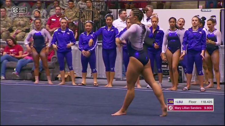 Sarah Finnegan 2017 NCAA Gymnastics Floor Exercise at Alabama - YouTube