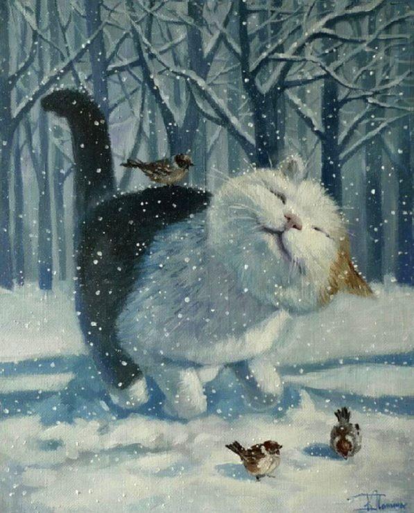 зимние коты картины: 26 тыс изображений найдено в Яндекс.Картинках