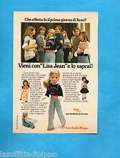 TOP975-PUBBLICITA'/ADVERTISING-1975- FURGA - BAMBOLA LISA JEAN