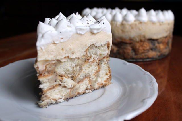 Mákosguba torta madártej krémmel, a legfinomabb desszert