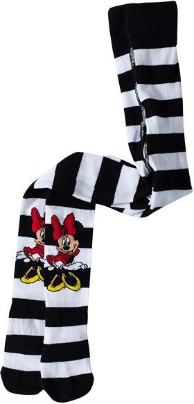 Minnie Mouse - Minni Hiiri, Sukkahousut, Raidalliset, Musta/Valkoinen, koko 110/116 cm. 9,90 €
