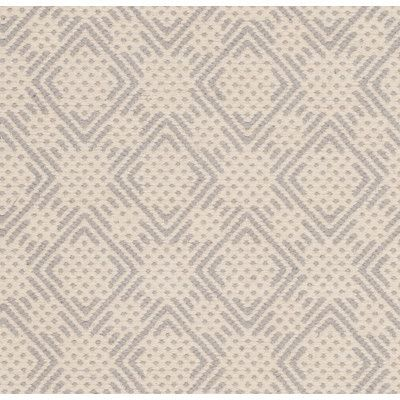Laurel Foundry Modern Farmhouse Cheneville Cotton Hand-Woven Silver/Ivory Area Rug Rug Size: 5' x 8'