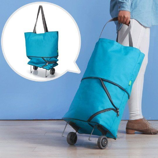 When you live in a big city and don't have a car, grocery shopping becomes an entirely new challenge. How do you carry all of the food you need for the week in one trip and not spend a million dollars on cabs each month? One of the easiest solutions is to get a shopping cart or trolley.