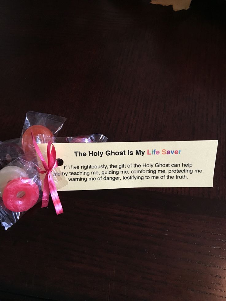 LDS primary class Holy Ghost lesson handout