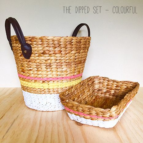 DIY Kit - Hand Painted Baskets: The Dipped Set